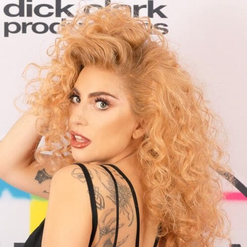 lady gaga long curly hairstyles