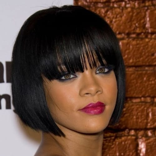 rihanna bob hairstyles for black women