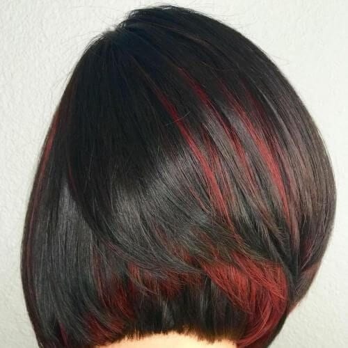 50 colorful peekaboo highlights my new hairstyles scarlet peekaboo highlights solutioingenieria Image collections