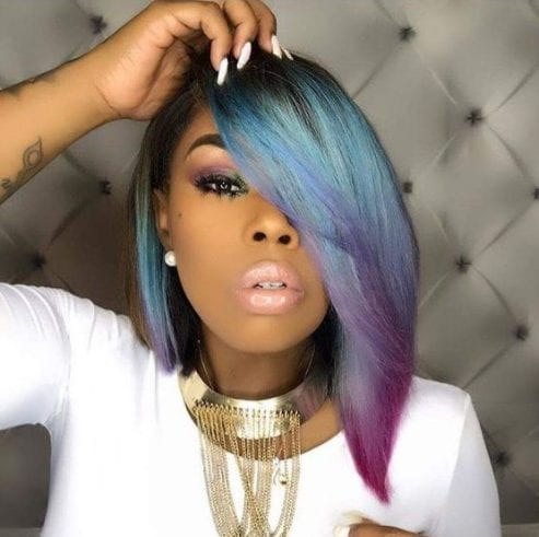 unicorn bob hairstyles for black women