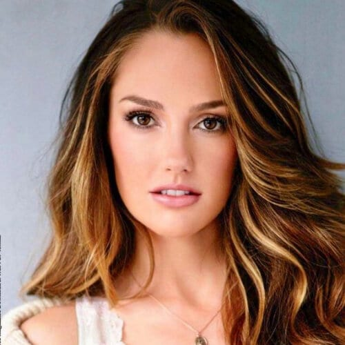 minka kelly honey brown hair