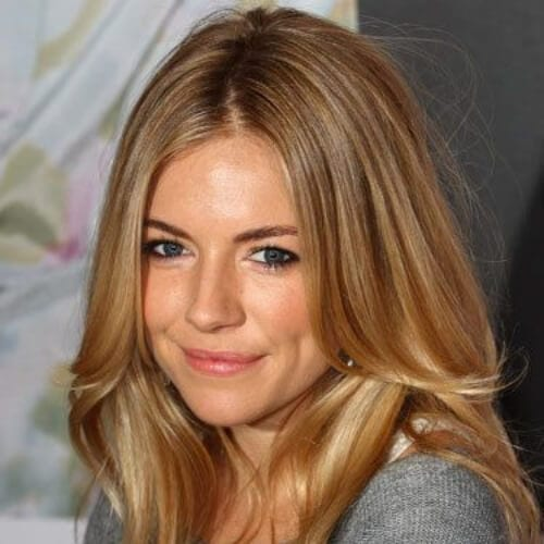 sienna miller honey brown hair