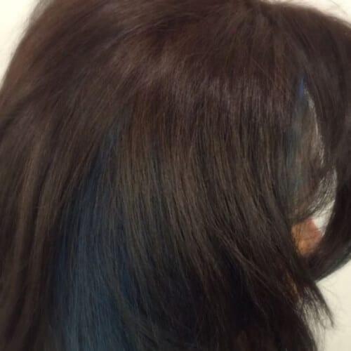 aqua blue low highlights and lowlights