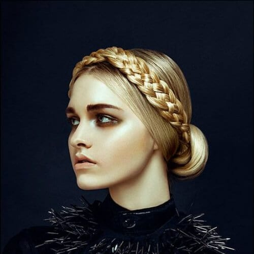 braid crown blonde hairstyles