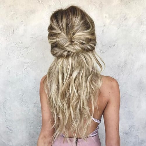 bridesmaid blonde hairstyles