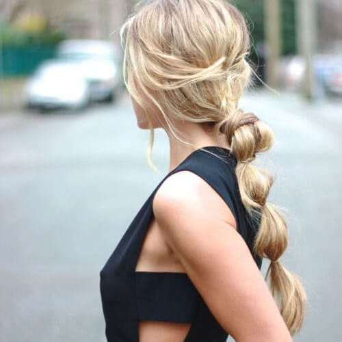 bubble braid cool hairstyles for girls