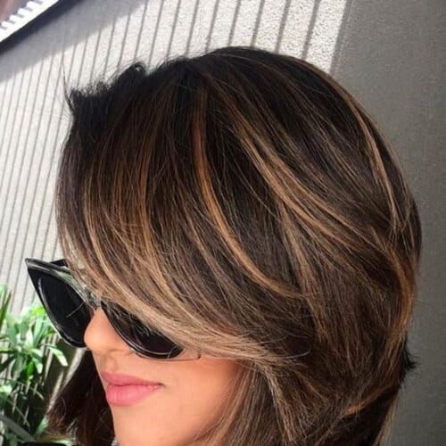 classy short hair with highlights