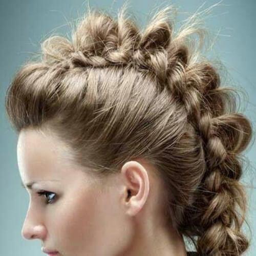 fauxhawk braid hairstyles for long hair