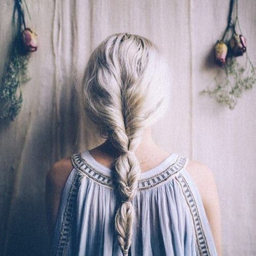 loose fishtail cool hairstyles for girls