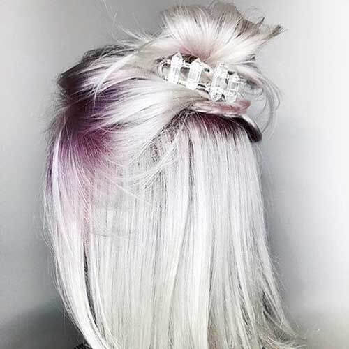 platinum grape blonde hairstyles