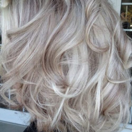 polar blonde low highlights and lowlights