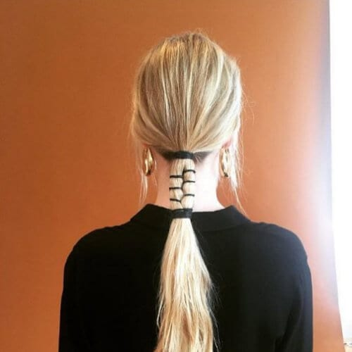 sectioned braid blonde hairstyles