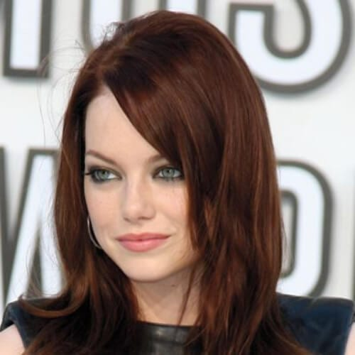 emma stone chestnut hair color