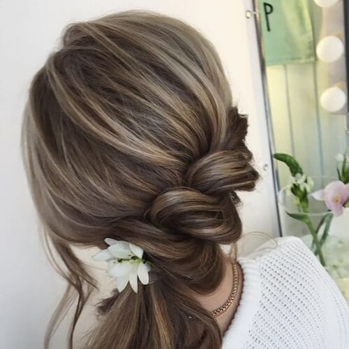 Twisted ponytail side hairstyles for prom