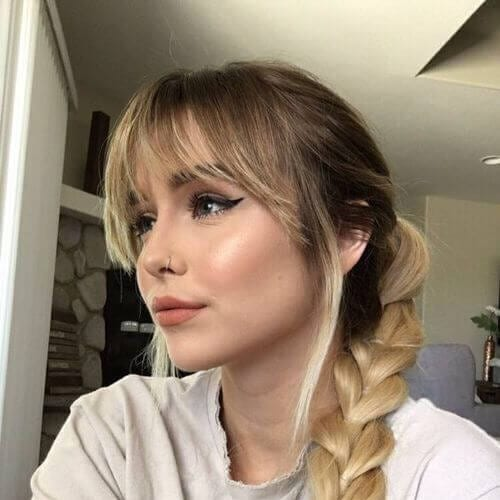 bangs braid side hairstyles for prom