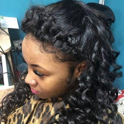 beautiful braided bang hairstyles