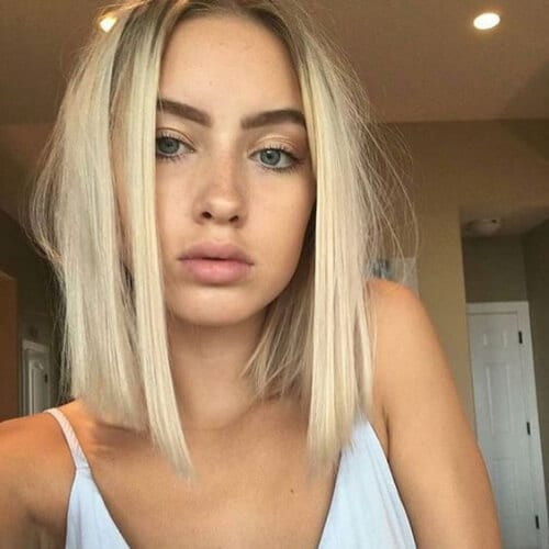 blonde blunt bob short haircuts for sraight hair