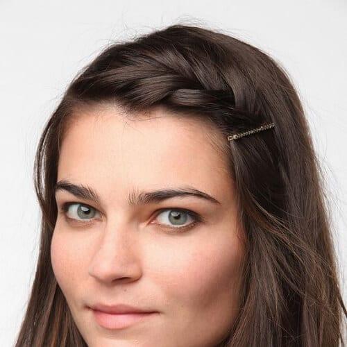 bobby pin braided bang hairstyles