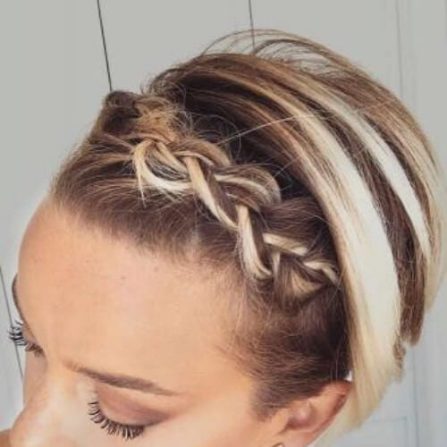 long pixie braided bang hairstyles