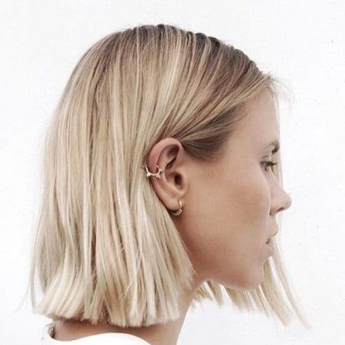 natural blonde short haircuts for straigth hair