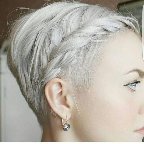 pixie cut braided bang hairstyles