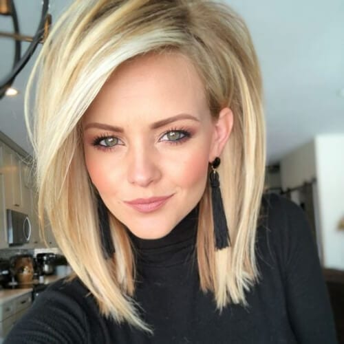puffed up short haircuts for straight hair