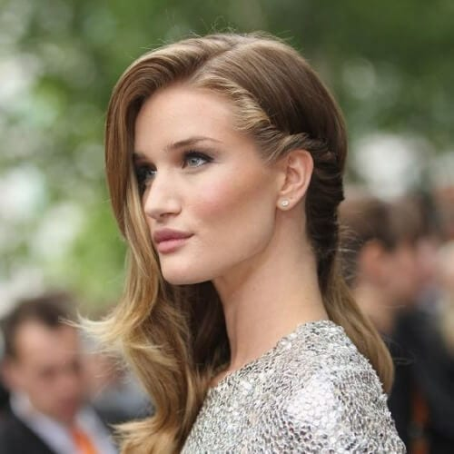 rosie side hairstyles for prom