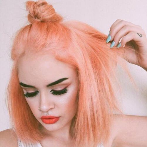 tangerine short haircuts for straight hair