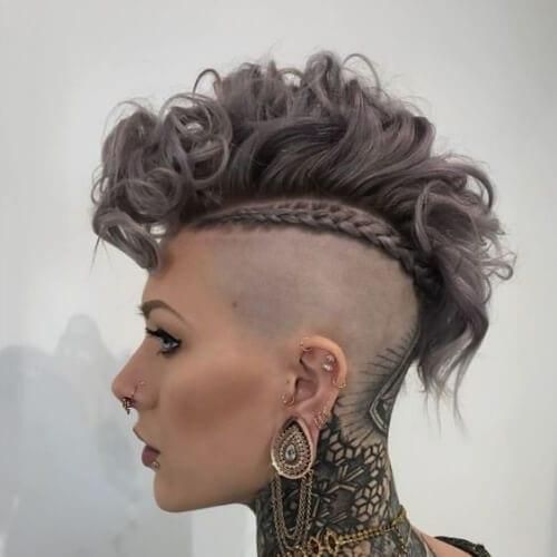 curly fauxhawk braid short punk hairstyles
