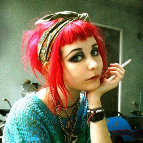 hair band short punk hairstyles