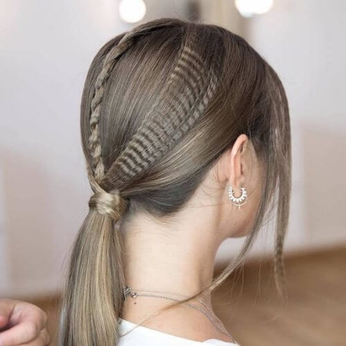 ponytail crimped hairstyles