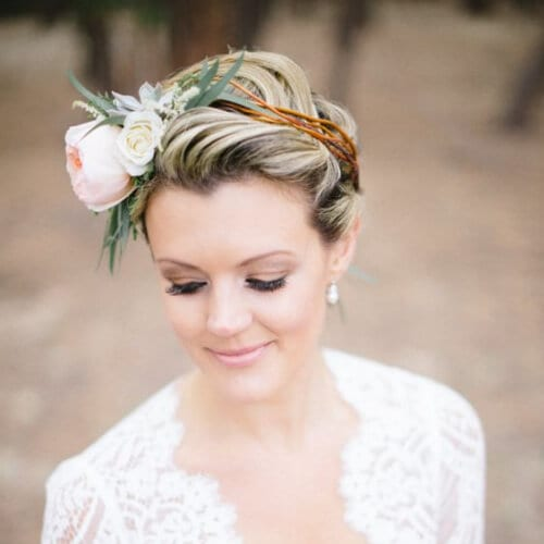 romantic spring wedding hairstyles for short hair
