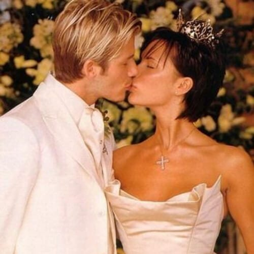 victoria beckham wedding hairstyles for short hair