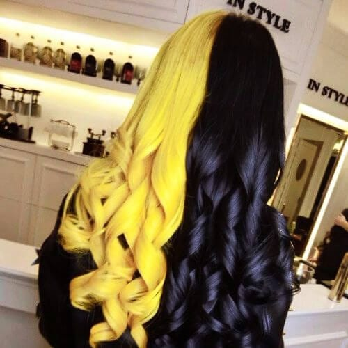 butterbeer black two tone hairstyles