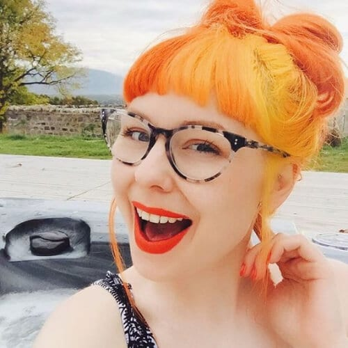 orange and tangerine two tone hairstyles