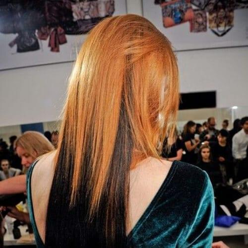 prada two tone hairstyles