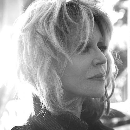shaggy Jane Fonda hairstyles for Grazia Magazine