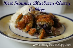 Best Summer Blueberry-Cherry Cobbler