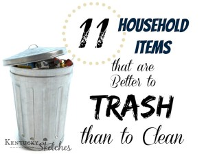 11 Household Items that are Better to TRASH than Clean