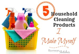 Five Things Tuesday: 5 Household Cleaning Products I Make Myself