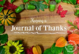 Keeping a Journal of Thanks