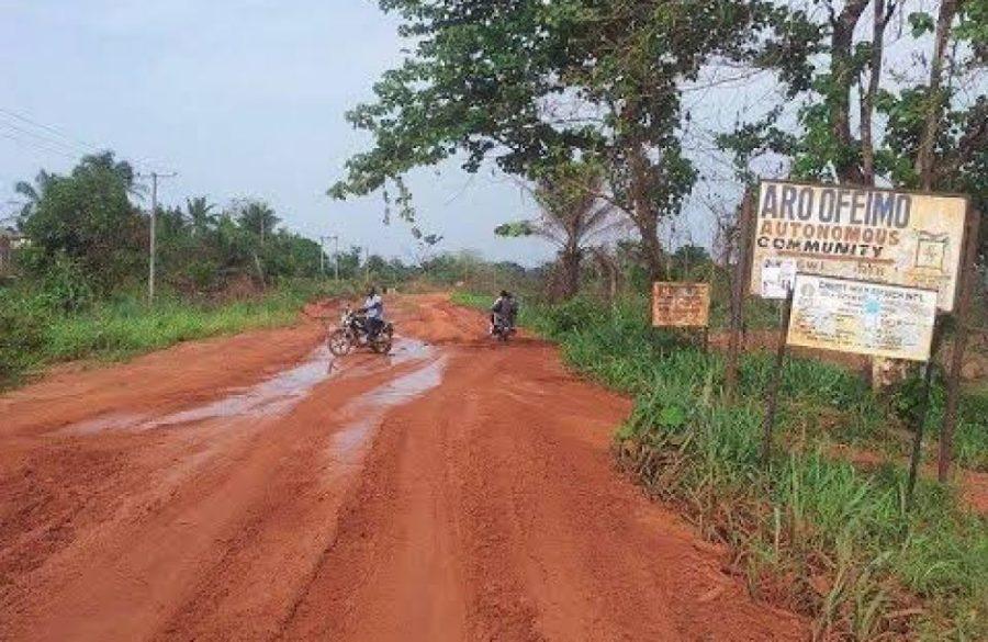 State of road in Arondizuogu