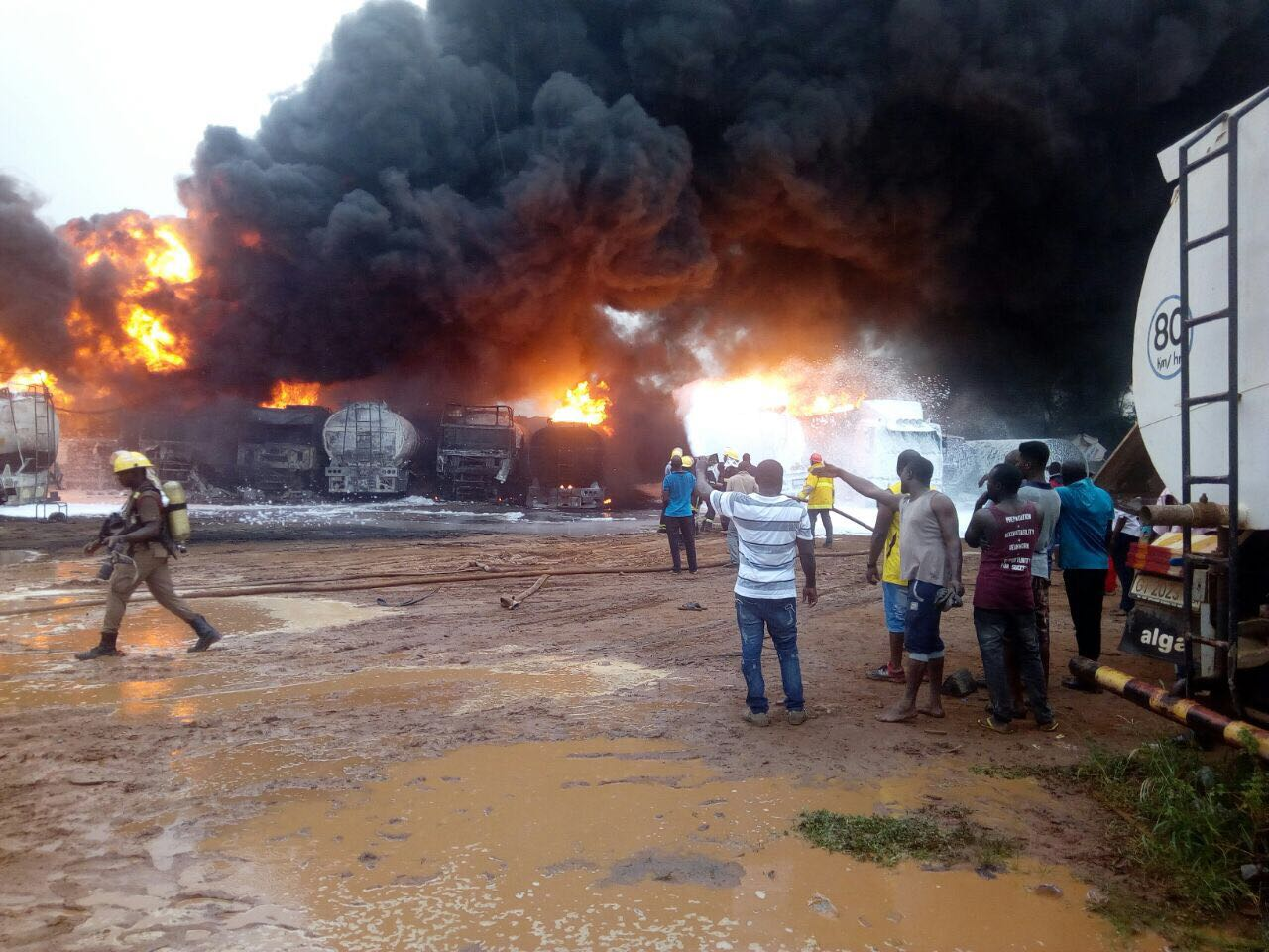 Update on Ashaiman Gas Explosion: 8  Dead, 4 Vehicles burnt, Dozens  Injured