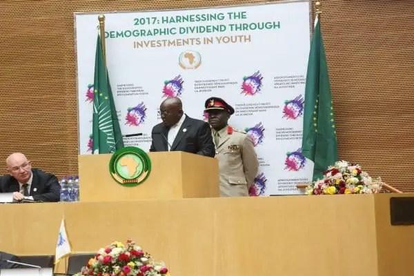 Nana Addo's vote of thanks at the 28th AU Summit
