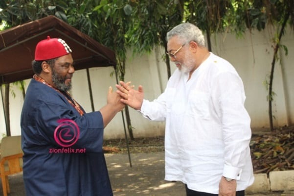 Veteran Nigerian Actor Pete Edochie Meets Rawlings