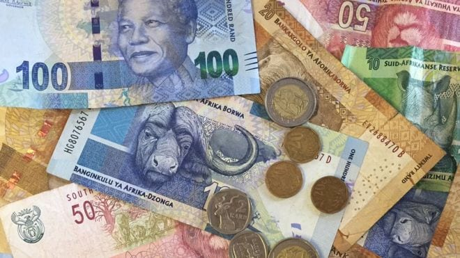 South Africa's rand hits 16-month high vs dollar