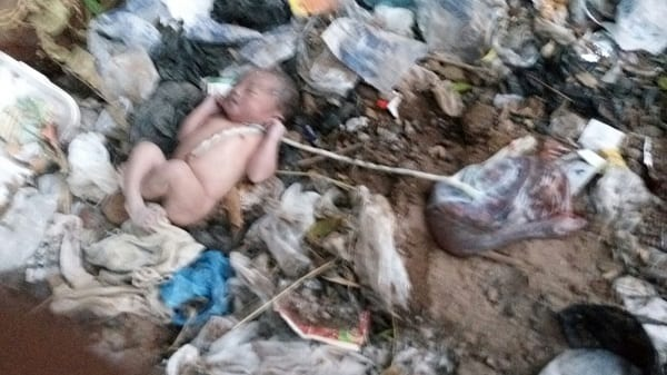 Nine-month old baby abandoned at refuse dump