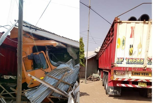 Articulated Truck Crashes into NDC Chairman's House