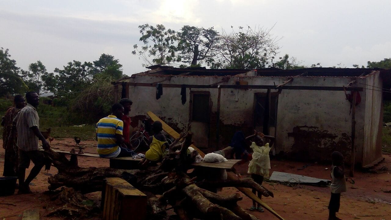 E/R: Rainstorm Renders about 100 Homeless at Maame- Krobo Nkwanta