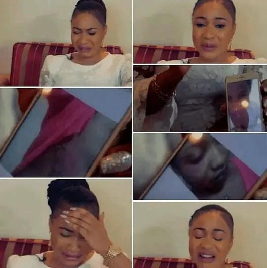 VIDEO: Tonto Dikeh Cries, shares domestic violence photos